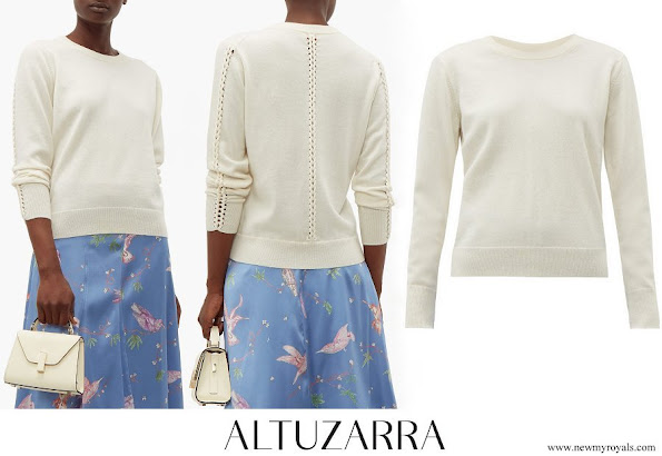 The Countess of Wessex wore ALTUZARRA Fillmore braided cashmere sweater