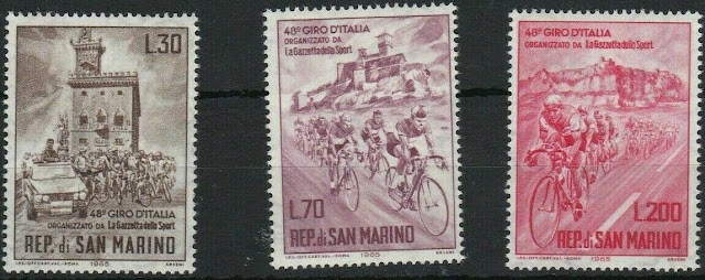 San Marino 1965 Cycling - 48th Giro d'Italia Cycle Tour of Italy