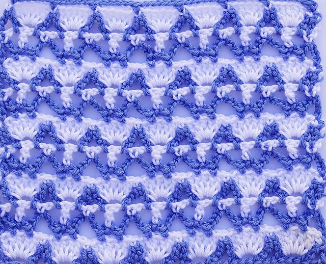 3 Crochet Imagenes Puntada combinada dos colores a crochet y ganchillo por Majovel crochet
