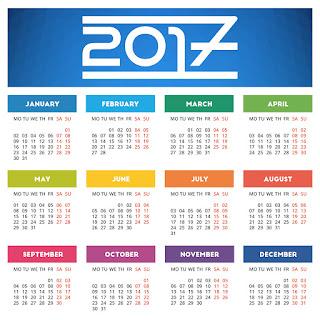 2017カレンダー無料テンプレート75