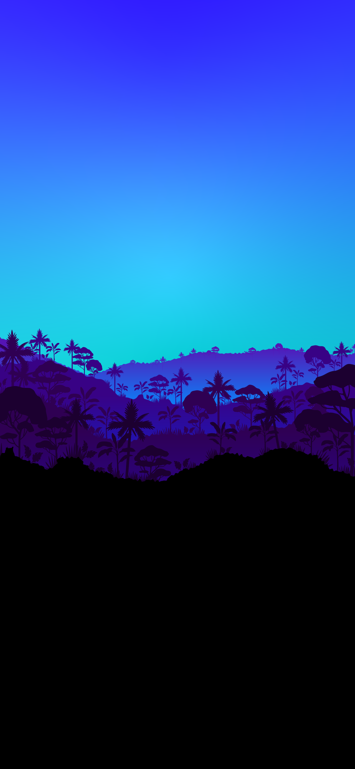 Tropical forest landscape with dense forest