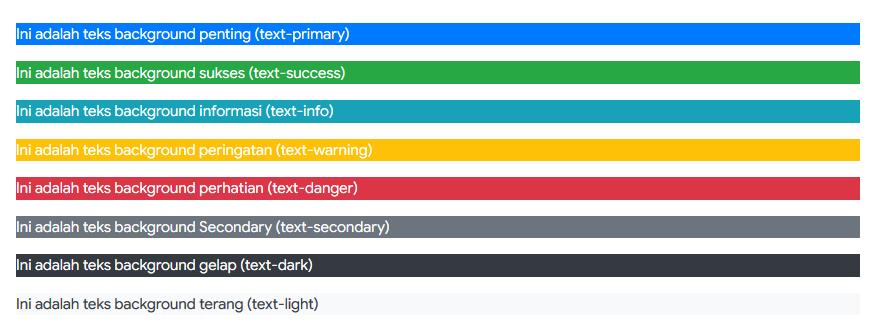 Warna Background pada Bootstrap 4