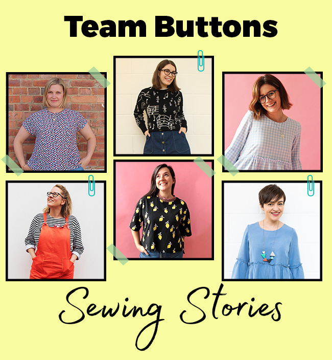 Team Buttons Sewing Stories