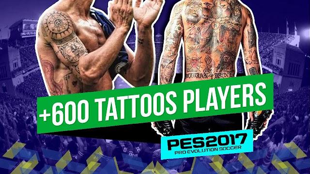 PES 2017 Mega Tattoo Pack +600 dari Jdanny182