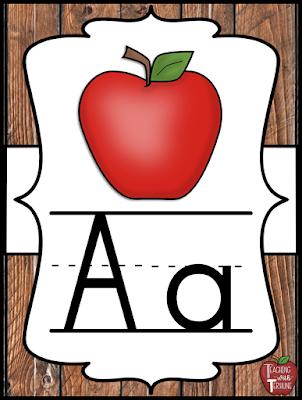 Farmhouse Alphabet Poster