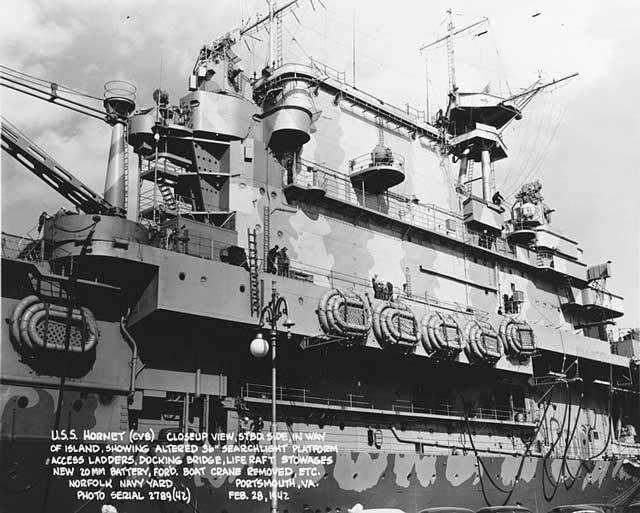 USS Hornet, 28 February 1942 worldwartwo.filminspector.com