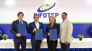 Infotep firma acuerdo de colaboración con ANRD y ADACAM que beneficiará 122 empresas