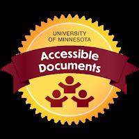 Sample UMN Digital Accessibility Badge for Documents