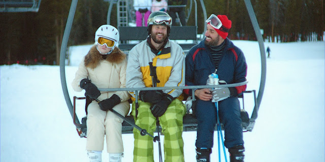Marissa, Kyle, and Mike on the ski lift