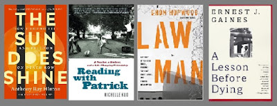 book covers: The Sun Does Shine, Reading with Patrick, Law Man, A Lesson Before Dying