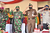Danrem 132 Tadulako Hadiri Upacara Peringatan HUT Ke-57 Provinsi Sulawesi Tengah