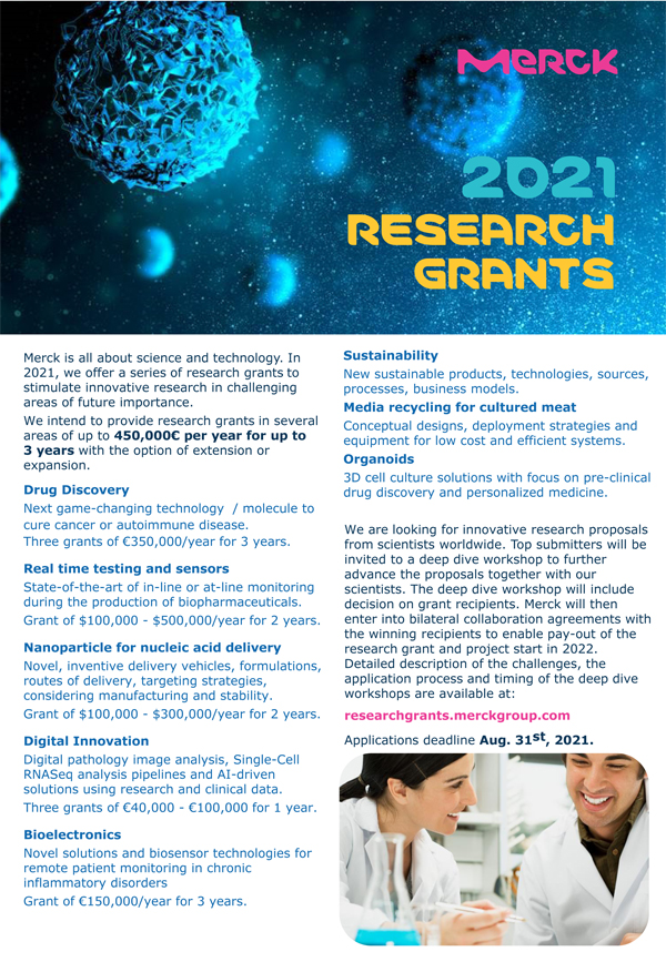 Merck 2021 Research Grants for Innovative Research | Apply