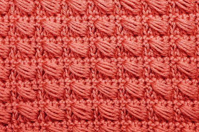 5 - Crochet Imagen Puntada conbinada con punto puff 2 a crochet y ganchillo por Majovel Crochet