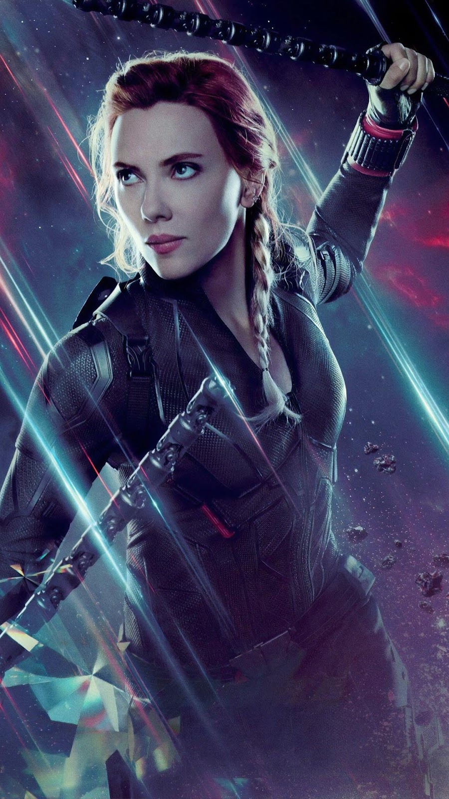 Black Widow Mobile Wallpaper rambut pirang ekor kuda