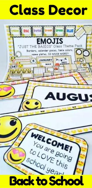 Emoji Classroom Decor