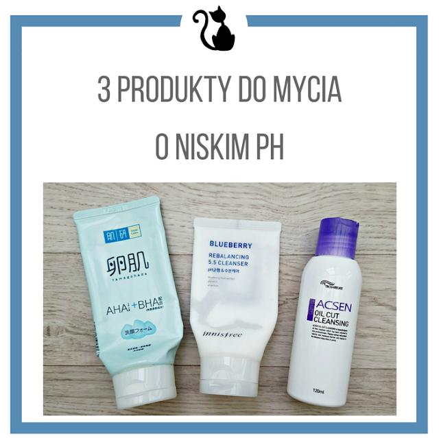 3 ciekawe produkty do oczyszczania cery o niskim ph