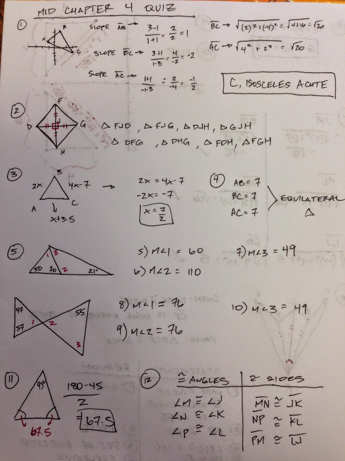 Honors Geometry - Vintage High School: Mid Chapter Review ...