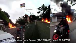 Kebakaran Pom Mini di Pasar Rebo Purwakarta
