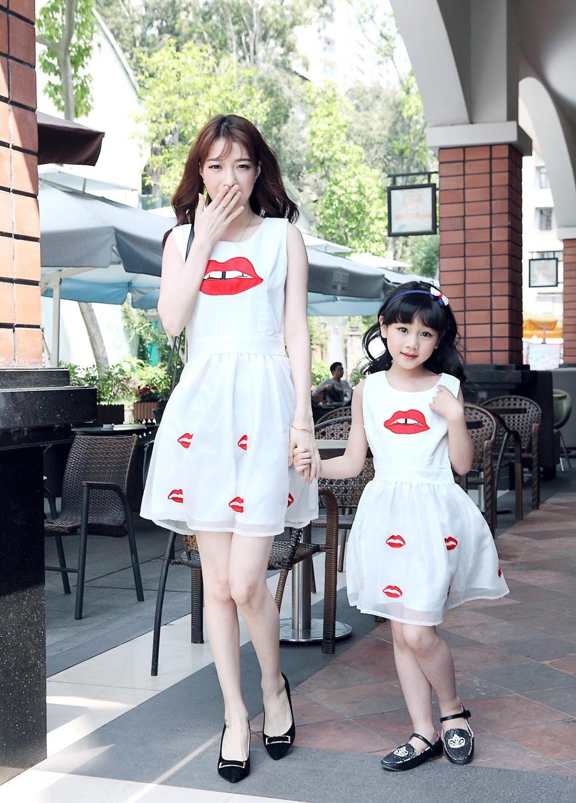 20 Baju Dress Korea Style Untuk Ibu Dan Anak Perempuan -3784