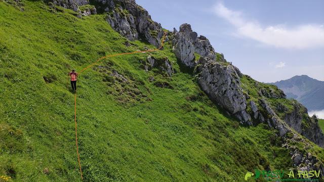 Bajando hacia el Collao Pomerín desde el Pico Zorru