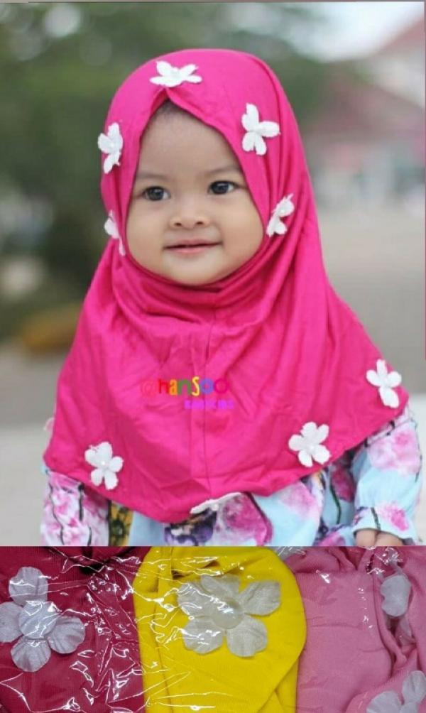 Jilbab Bayi Bunga FA-172