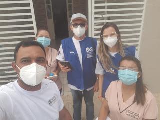 Em Baraúna, Governo do Estado realiza pesquisa para avaliar situação da Covid-19