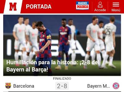 بايرن ميونيخ برشلونة 8-2 ثمانية اثنين