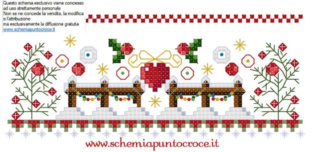 bordo per punto croce a tema Natale