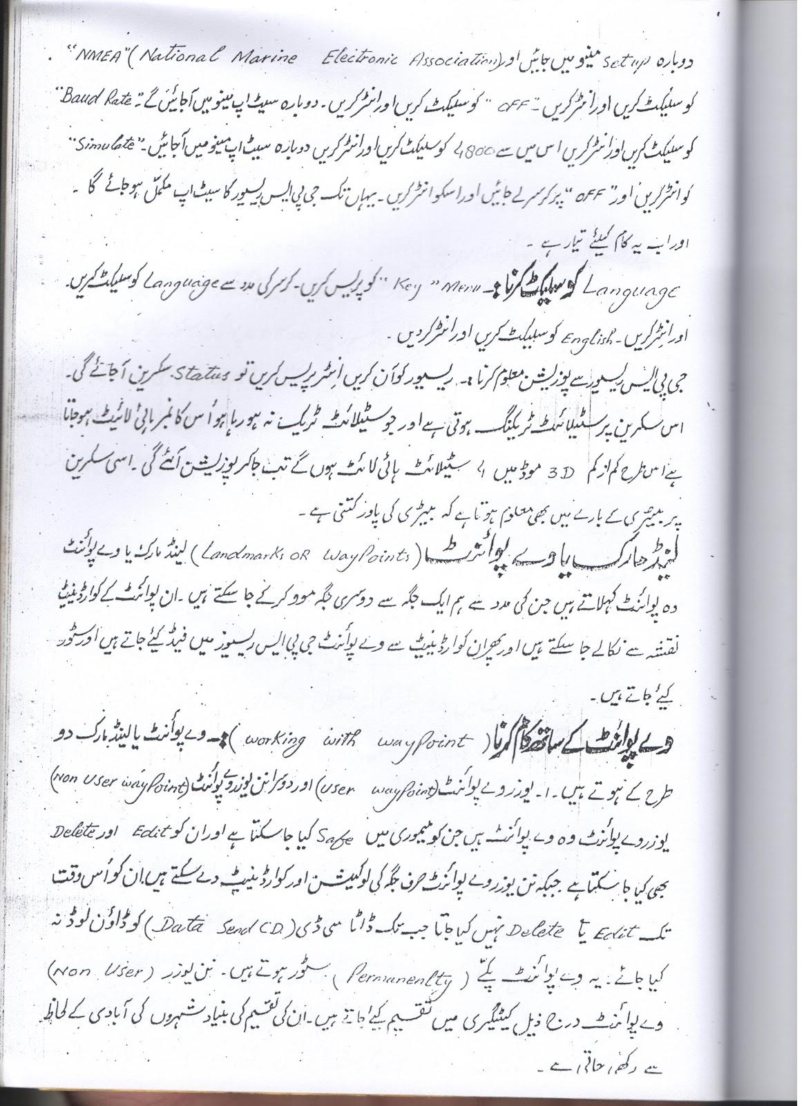 Raja Farrukh's Blog: GPS Manual in Urdu