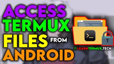 Termux File Manager : Access Termux Files From Android