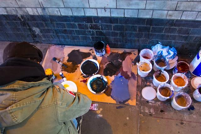 """Adam & Eva"" New Street Art Pieces By Spanish Artist Borondo On Old Street, East London. 7"