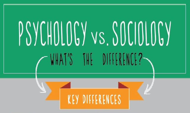 Psychology Vs. Sociology What's the Difference? #infographic