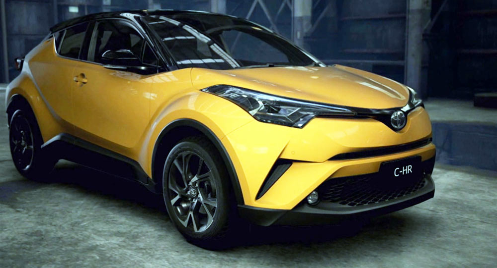 Check Out The 2017 Toyota C-HR Small Crossover In Fancier Colors
