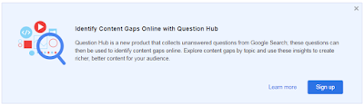 Identify Content Gaps Online with Question Hub