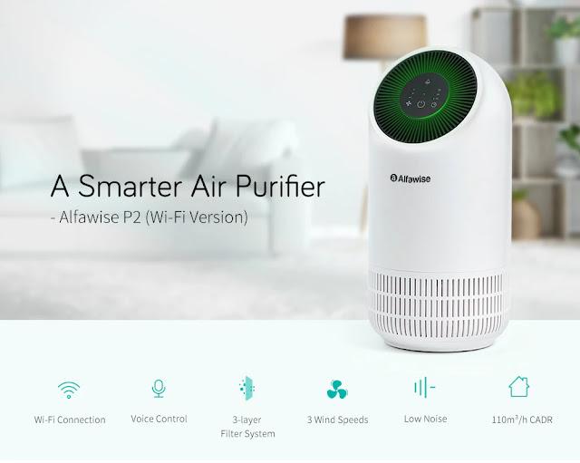 Alfawise P2 - Purificador de Ar inteligente