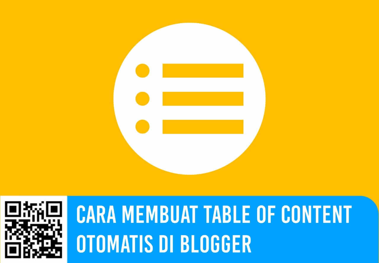 Cara Membuat Table of Content Otomatis di Blogger