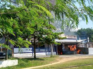Explosão de gás no supermercado Sunway provoca incêndio em Itariri
