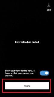 Cara Live Instagram