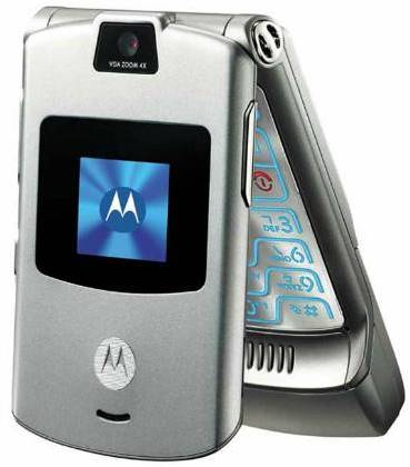 Motorola sugere retorno do celular V3