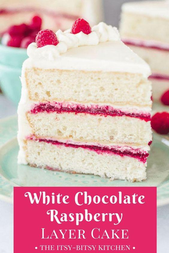 Whïte Chocolate Raspberry Cake