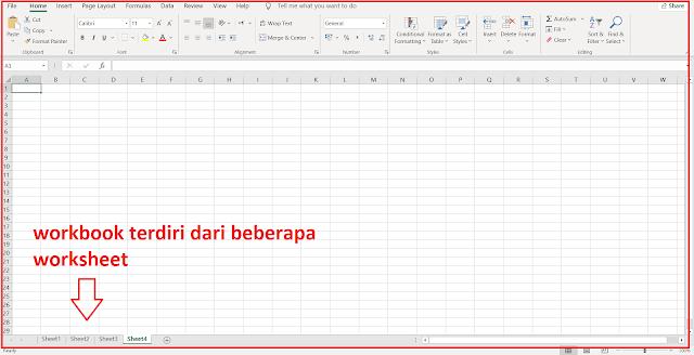 Pengertian dan Pebedaan Antara Workbook dan Worksheet pada Excel
