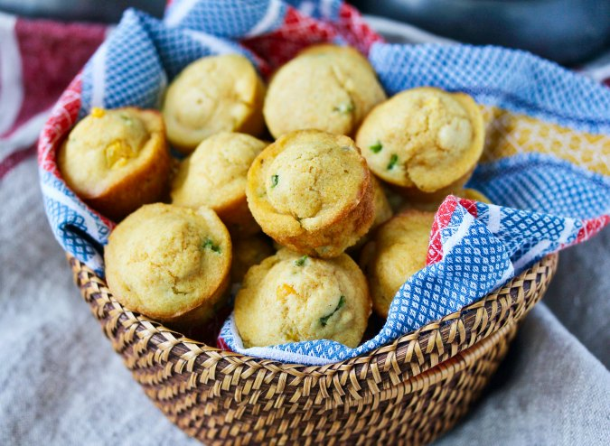 Corn Bread Muffins with Cheddar Butter