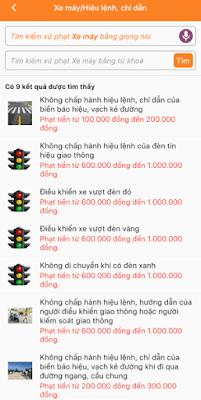 tra cứu lỗi vi phạm giao thông trên điện thoại_2