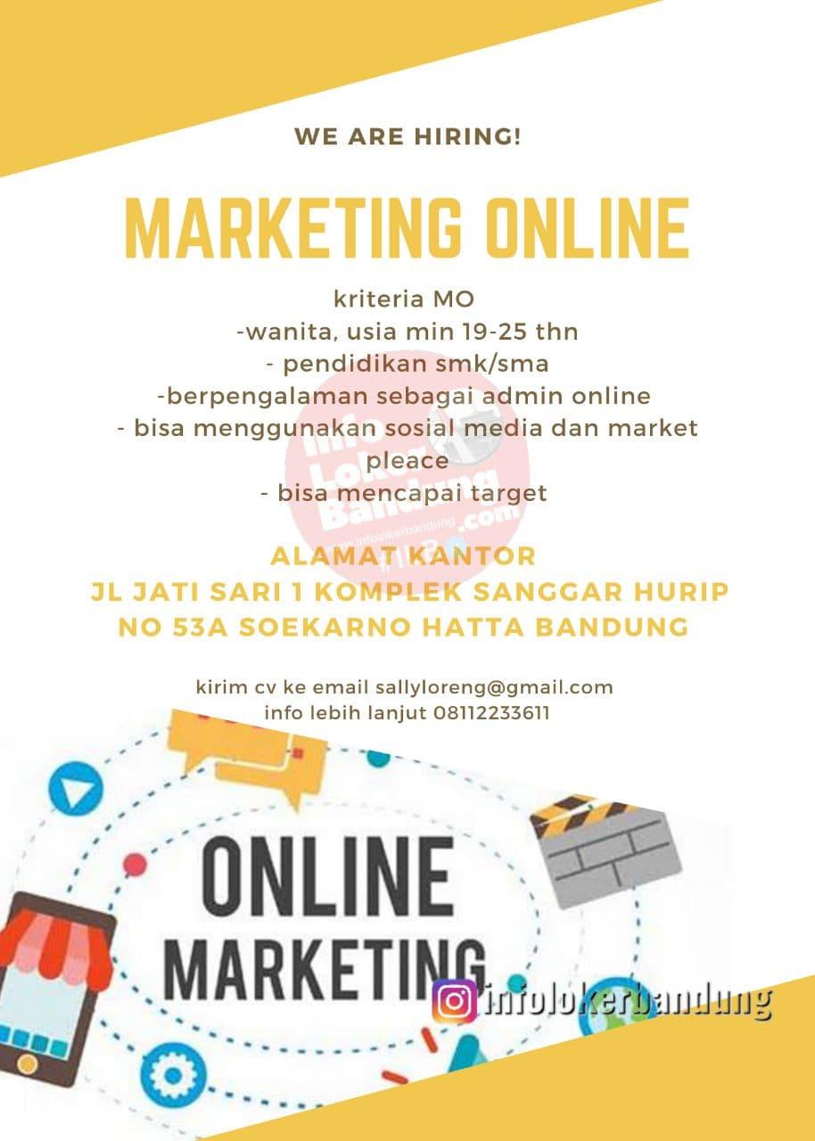 Lowongan Kerja Marketing Online Sally Loreng Bandung Juni 2021