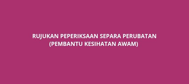 Rujukan Peperiksaan Separa Perubatan 2021 (Diploma/Sijil)