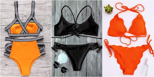 Promoção de Biquínis na loja Zaful.com (Bikini Orange)