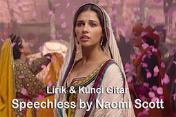 Kunci Gitar SPEECHHLESS by NAOMI SCOTT Aladdin Soundtrack Chord Gitar Online