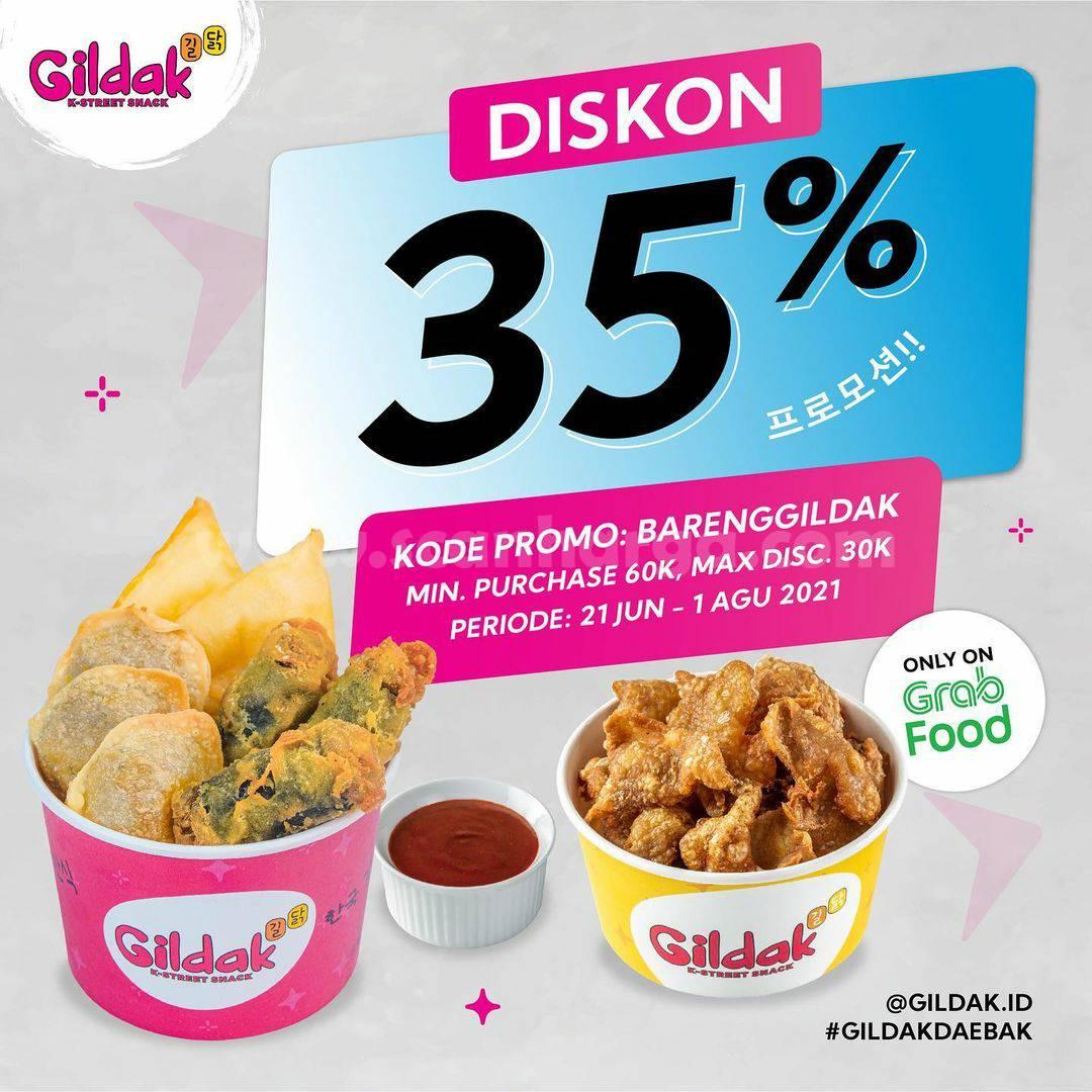 Promo GILDAK DISKON hingga 35% Bareng GRABFOOD