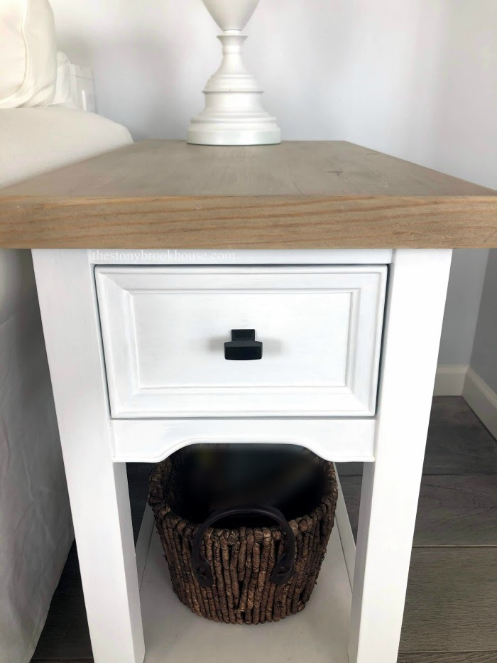 Chalk painted end tables