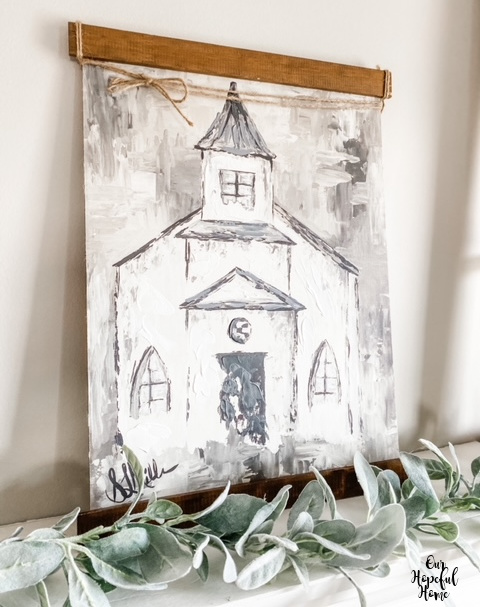 Kirkland's rustic church painting
